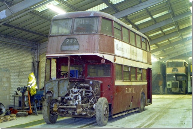 1349 in the depot prior to restoration work commencing