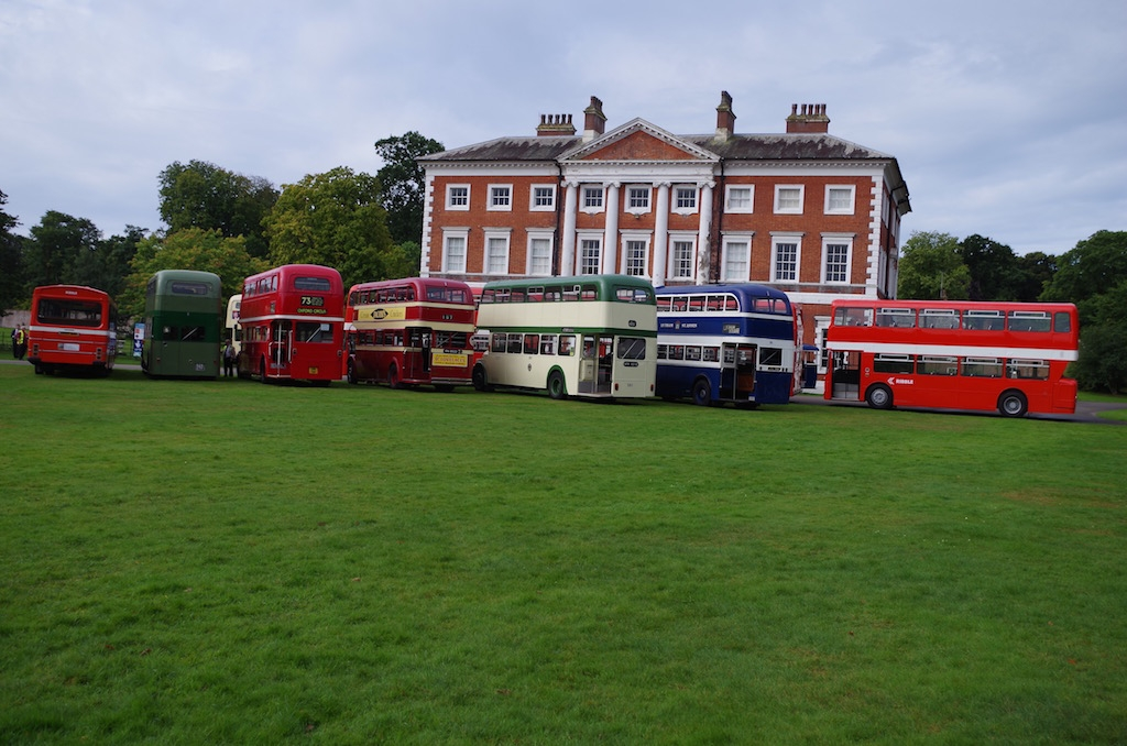 The imposing Lytham Hall is a backdrop for the buses operating service